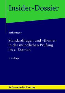 Berkemeyer - Standardfragen und -themen in der mündlichen Prüfung im 2. Examen
